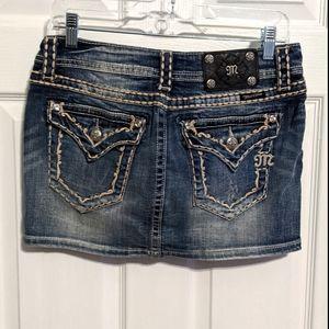 Miss Me 28 Jeans skirt Big Stitch Denim Skirt